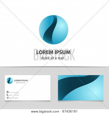 Sphere Abstract Vector Icon Design Template. Business Technology Circle Shape. Sci-fi Creative Conce