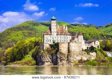 Austria , old abbey castle on Danube