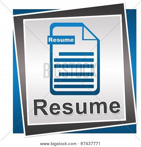 Resume Blue Grey Square