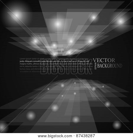 stylish black and white rays abstract mosaic perspective background