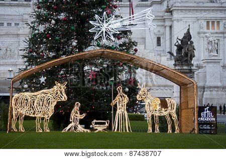 Nativity Scene at piazza Venezia