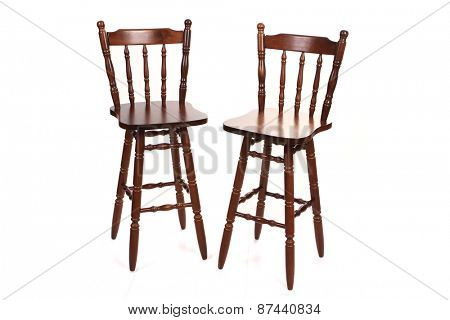 Vintage old wood chairs