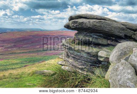 View over moorlands