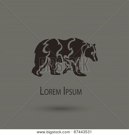 Artistic Vector Silhouette Of A Bear.