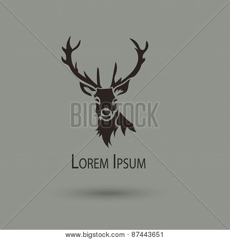 Artistic Vector Silhouette Of A Deer.