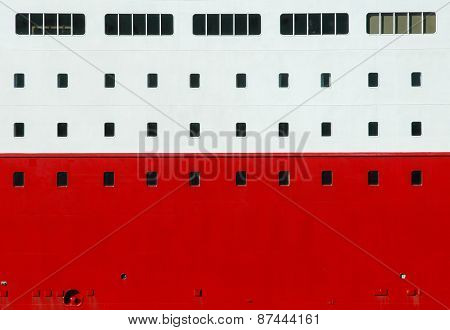 ship wall with windows