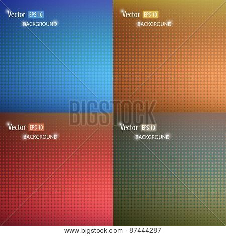 Vector Smooth Abstract Colorful Backgrounds Set With Geometric Shape. Modern Concept.