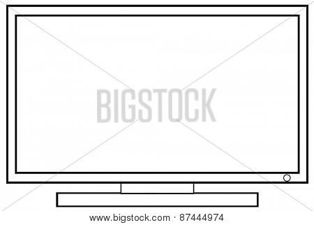 Close up flat screen television