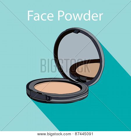 face powder style flat.
