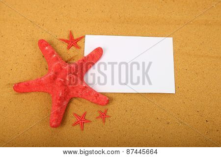 Red Starfish And Card