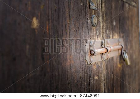 Old Latch Of A Main Door
