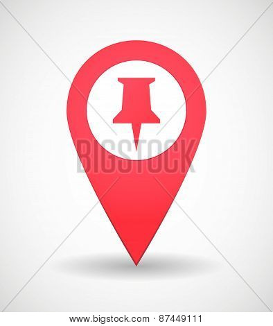 Map Mark Icon With A Pinpoint