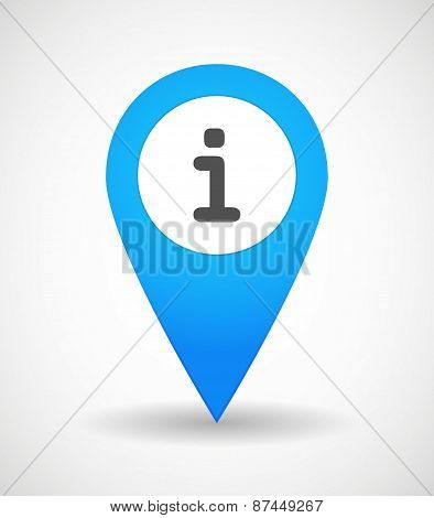 Map Mark Icon With An Info Sign