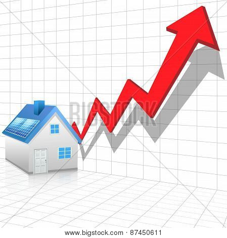 Real estate price rising concept