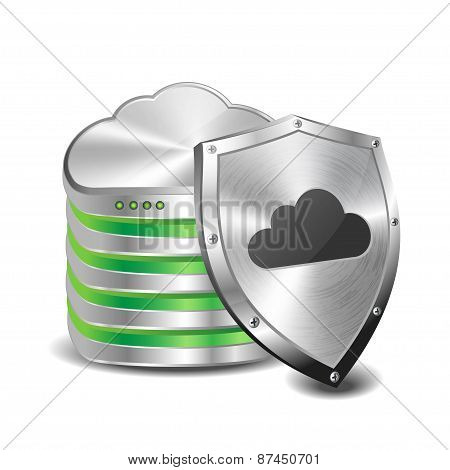 Cloud computing database and security shield