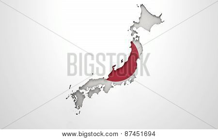 Recessed Country Map Japan