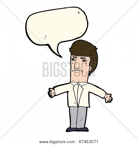 cartoon annoyed boss with speech bubble