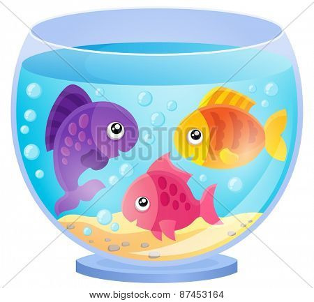 Aquarium theme image 7 - eps10 vector illustration.