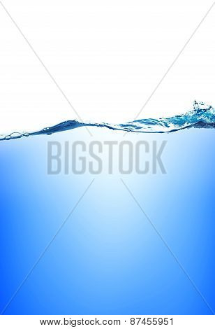 Water And Air Bubbles Over White Background