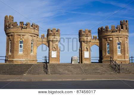 Traditional Fort Building Entrance To Withernsea Beach