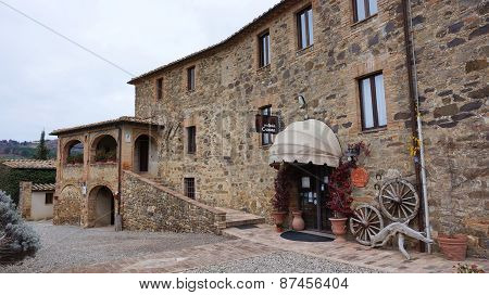 .castillo Banfi,  Old Castle N Montalcino, Italy .