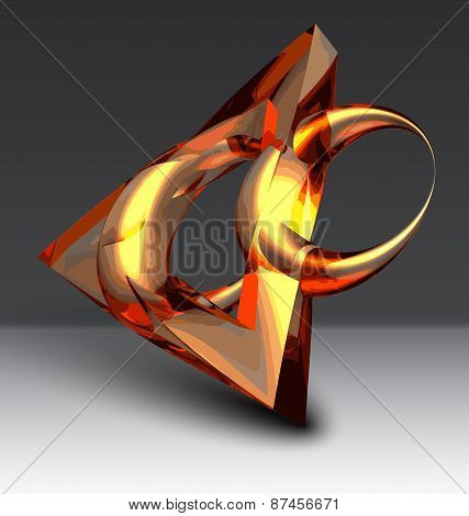 Abstract Background With Glossy Object