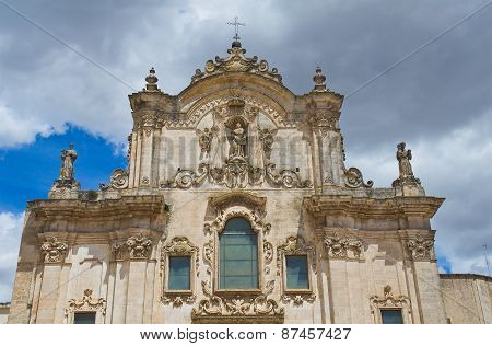 Church of St. Francesco. Matera. Basilicata. Southern Italy.