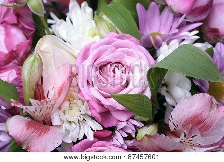 Beautiful Bouquet Of Flowers Close Up