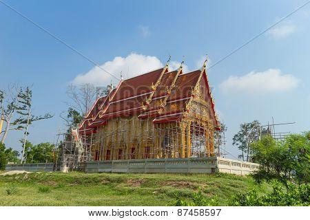 landscape for temple under construction