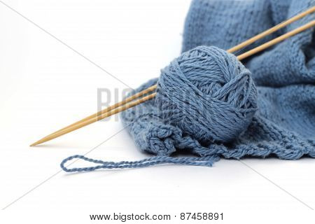 Ball of yarn for knitting
