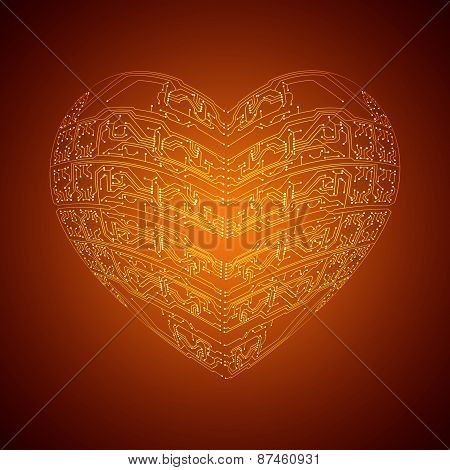 Stylized Technology Heart
