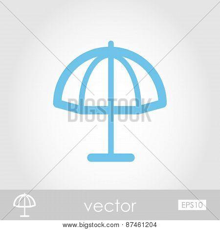 Beach Parasol Vector Icon