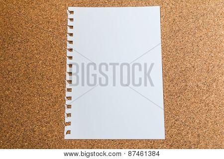 White Paper On Cork Board