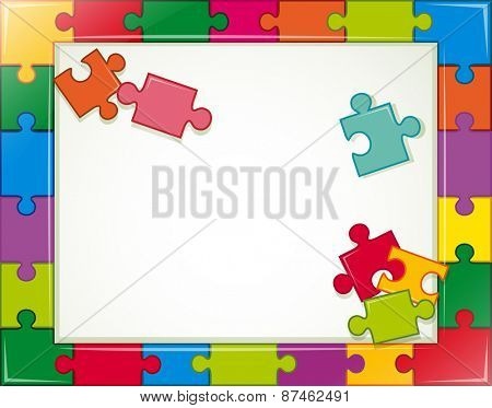 Banner template with jigsaw background