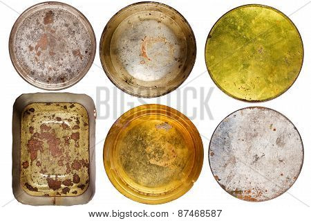 Rusty Round Metal Cans