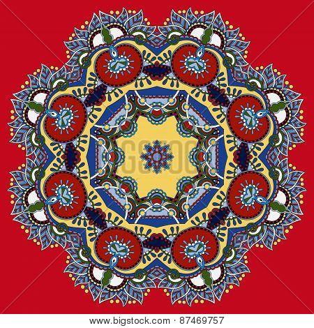 beautiful vintage circular pattern of arabesques