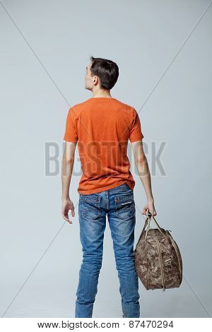 male with bag