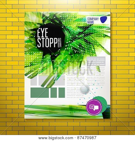 Expressive Geometric Eye Stopper At Corporate Background