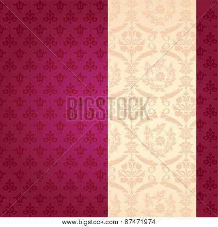 Purple classical pattern with banner