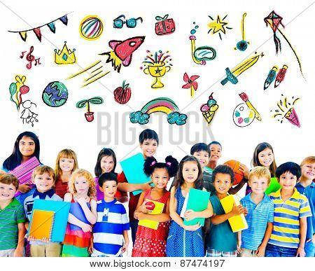 Kids Childhood Leisure Activity Education Concept