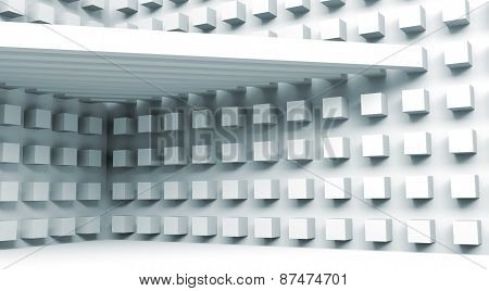 Architecture Background With Beams And Small Cubes Pattern