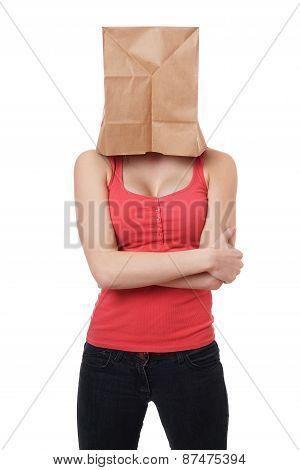 paper bag woman