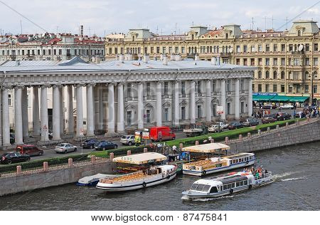Saint-Petersburg. Russia. Fontanka River and the Anicnkov Palace