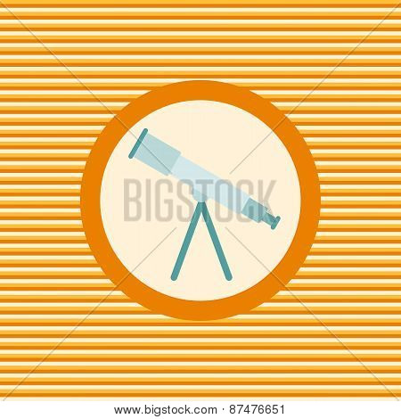 Telescope Color Flat Icon