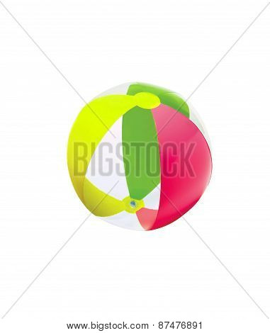 Colorful Child's Beach Ball Isolated On White