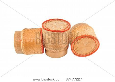 thai laos bamboo sticky rice container