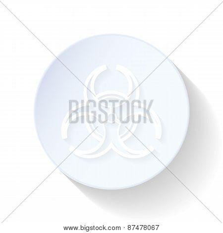 Biohazard Thin Lines Icon