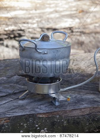 Cookware On A Gas Burner.