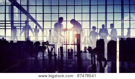 Business Respect Handshake Helping Hand Giving Corporate Concept