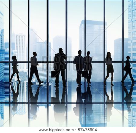 Business People Corporate Communication Travel Office Concept